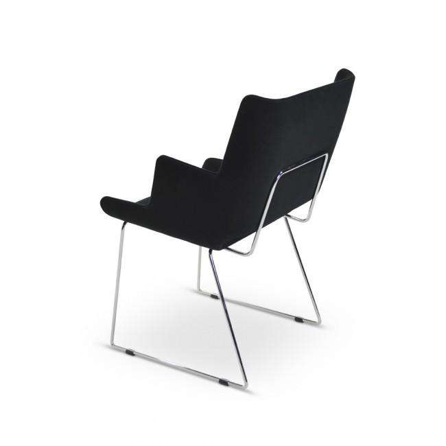 Designer chair Shelly Armchair Black - ROMATTI