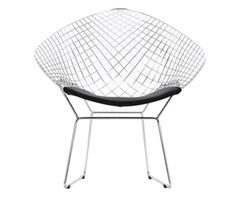 Chair for garden Knoll Harry Bertoia Wire Lounge Chair - ROMATTI