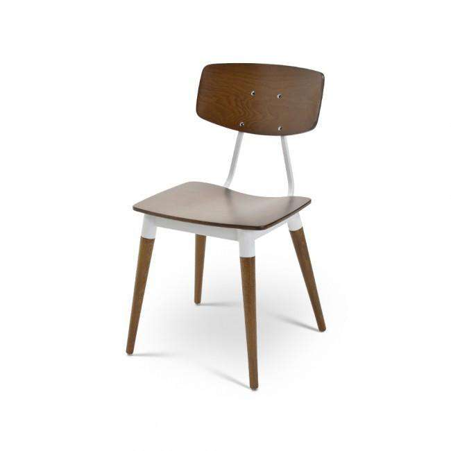 Designer chair Chair Wood Dark Brit - ROMATTI