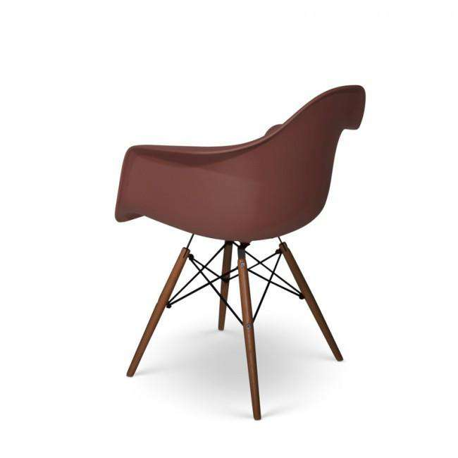 Designer chair Charles DAW dark base brown - ROMATTI