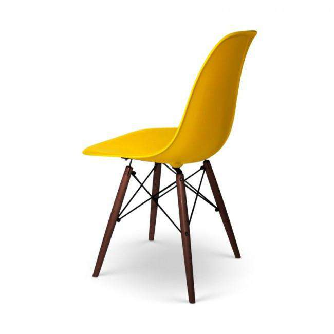 Designer chair Charles DSW dark base yellow - ROMATTI