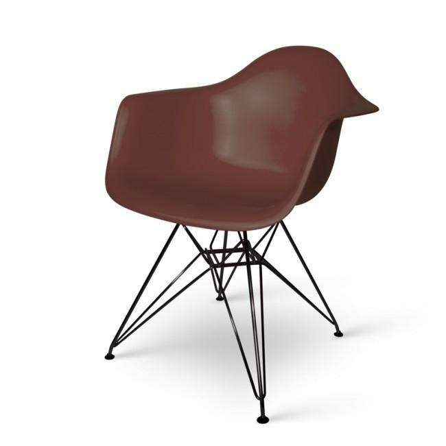 Designer chair Charles DAR black base brown - ROMATTI