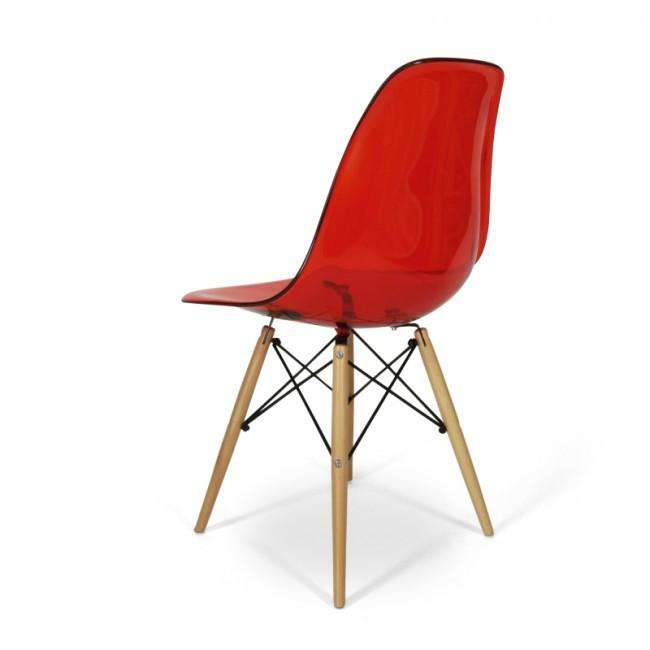 Designer Charles DSW chair Transparent red - ROMATTI