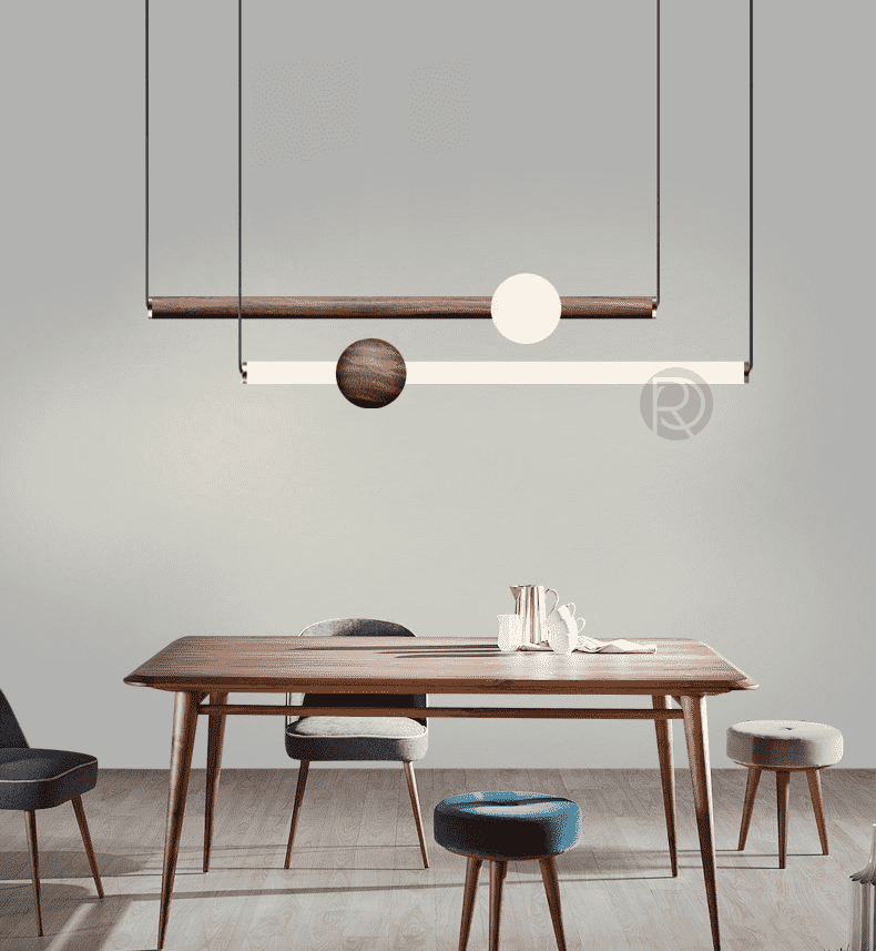 Pendant lamp Orion Wood - ROMATTI