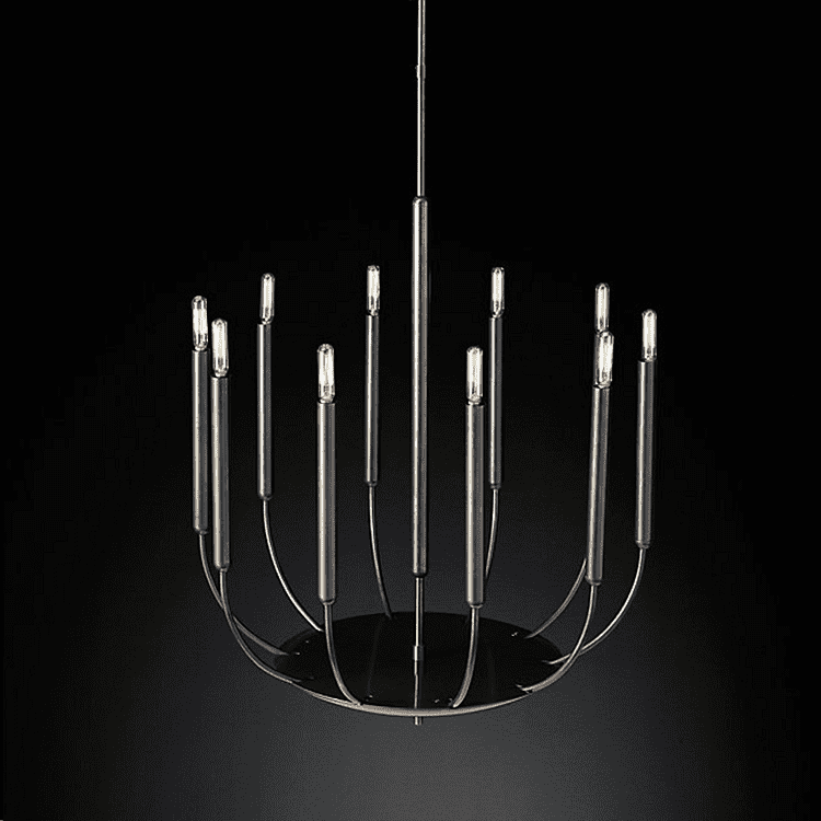Hanging lamp Round Chandelier Quenouilles - ROMATTI