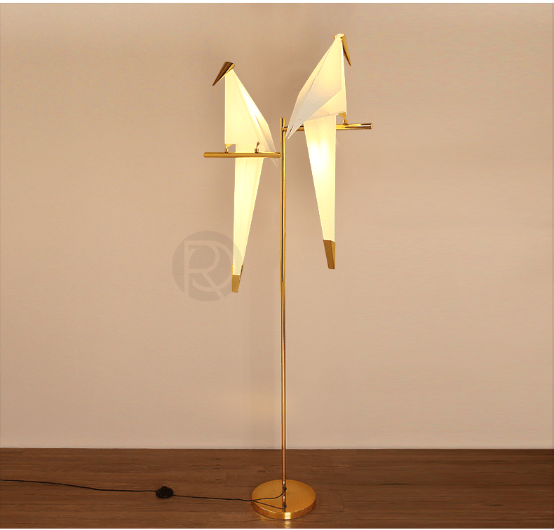 Floor lamp ORIGAMI BIRD by Romatti