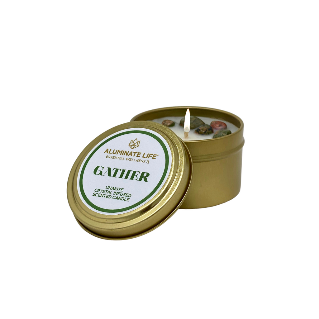 Gather Seasonal Candle Tin - Aluminate Life