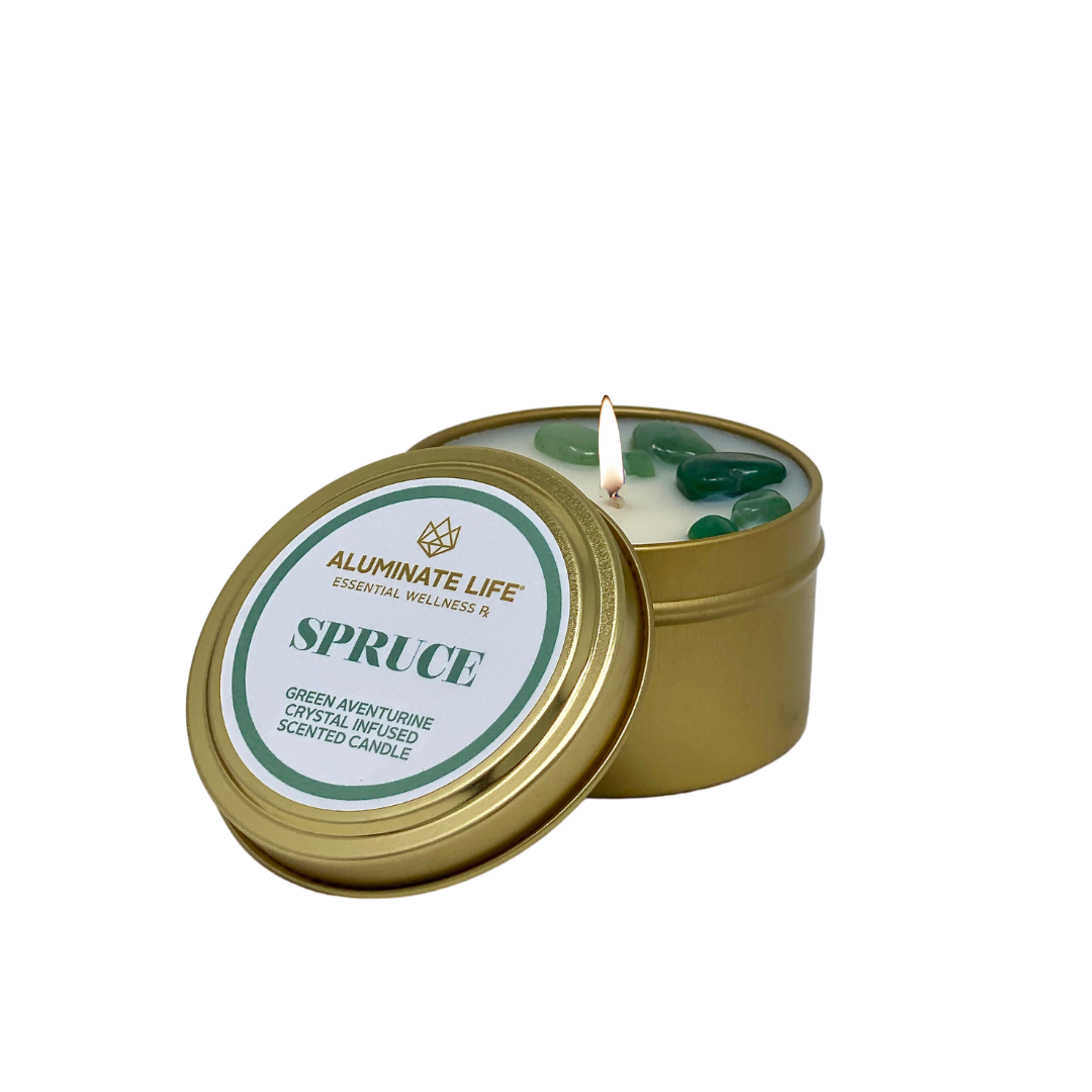 Spruce Seasonal Candle Tin - Aluminate Life