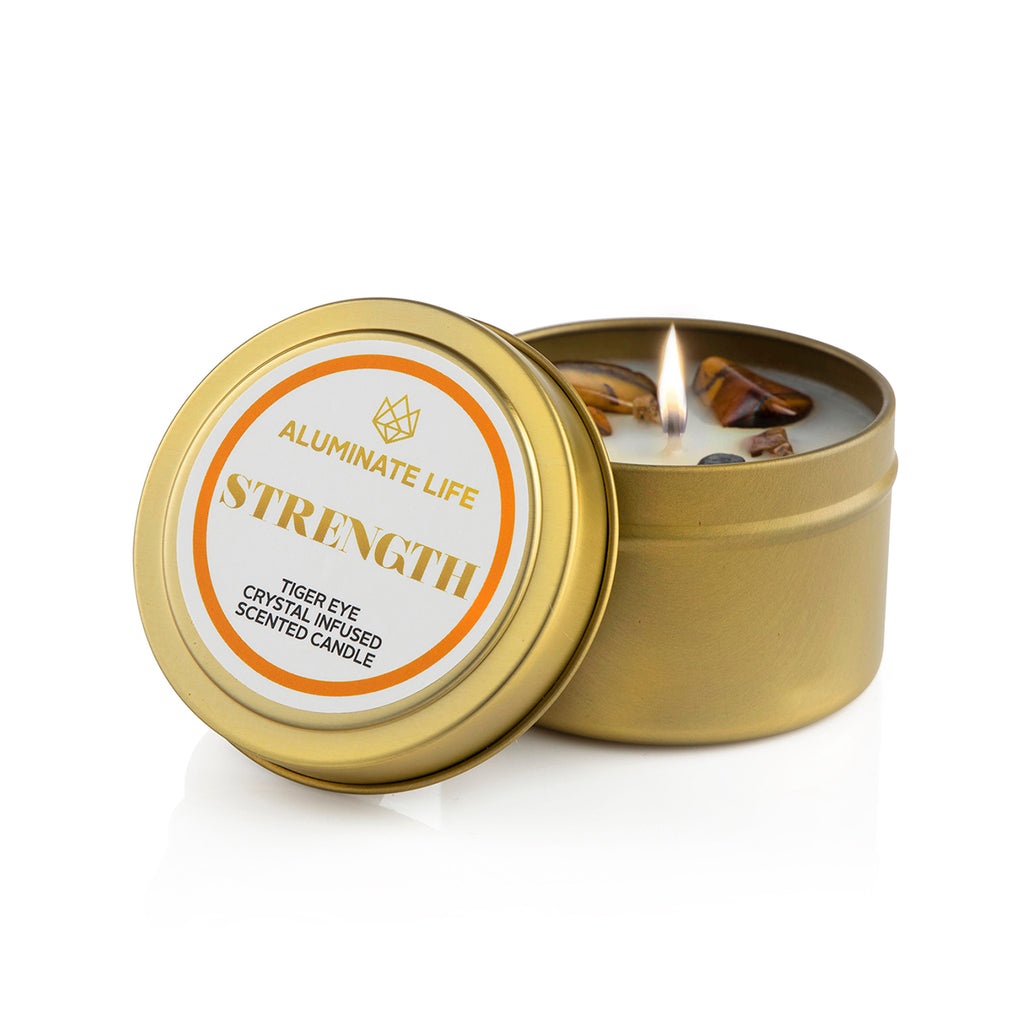 Strength Candle Tin - Aluminate Life