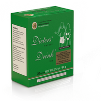 Original Green Leaf Brand Dieter's Herbal Drink uses a proprietary blend of natural herbs which enables weight adjustment to achieve desired weight.
