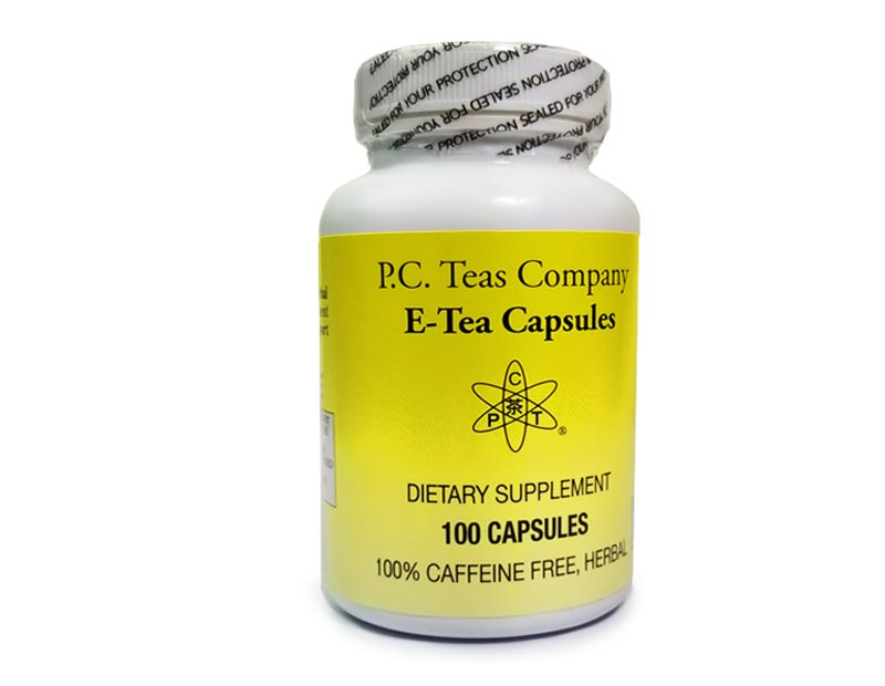 E-Tea Herbal Capsules (100/bottle)