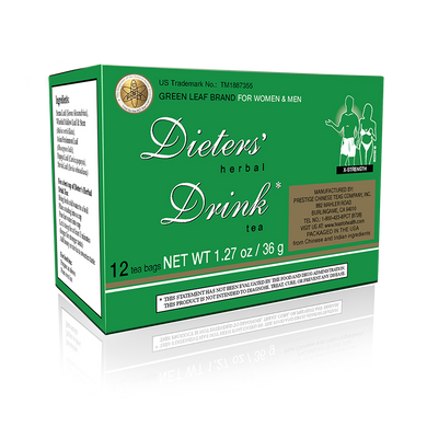 Dieter's Herbal Drink - Extra Strength (12 Bags)
