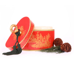Red Chinoiserie candle
