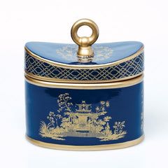 Blue Chinoiserie candle