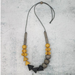 Gray and yellow necklace