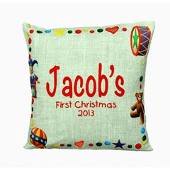 First Christmas pillow