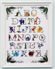 Animal alphabet wall plaque