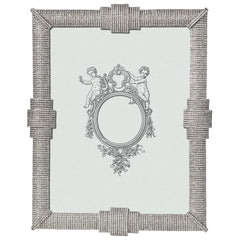 Pewter and crystal frame