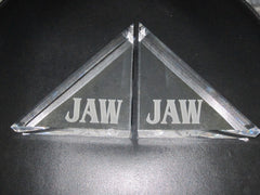 Lucite Beveled Bookends
