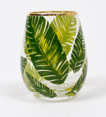 Set of 4 banana leaf glasses