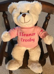 Teddy bear with personalized sweater