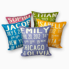 Birth Announcement pillow