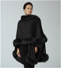 Black cashmere cape
