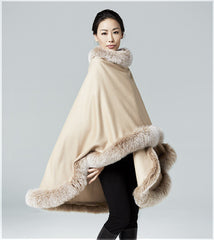 Blonde cashmere cape