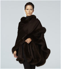Brown cashmere cape