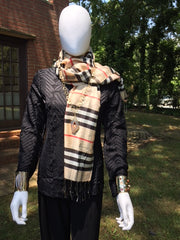 Burberry look scarf