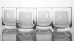 Set of 4 emoticon glasses