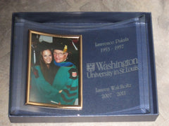 Custom etched frame