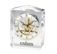 Crystal trophy clock