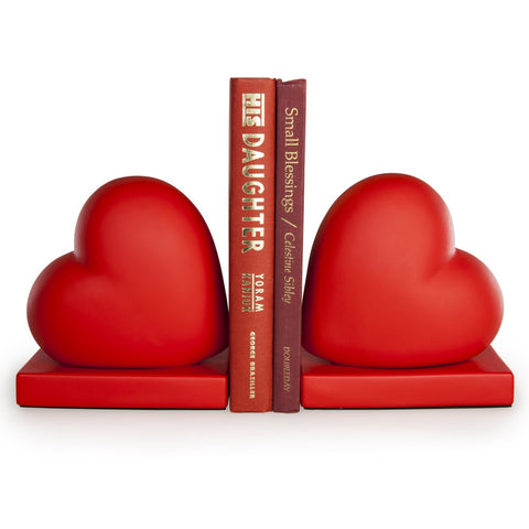 Creative Home 32884 2 Piece Genuine Champagne Marble Heart Shaped Bookends Set