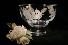 Beautiful etched crystal