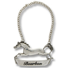 Equestrian decanter tag