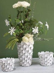 White ceramic vases