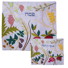 Fruits and flowers matzah cover