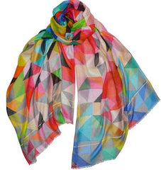 Colorful geo scarf