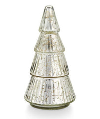 Mercury glass tree candle