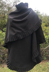 Ruffle edged cape
