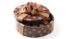 Chocolate polka dot box