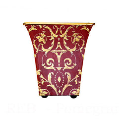 Red Baroque cachepot candle