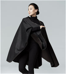 Reversible cashmere cape