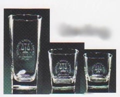 logo on 4 glasses
