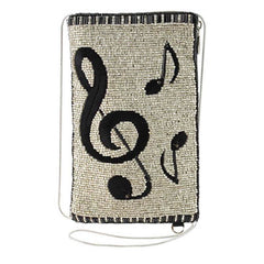 Music notes beaded crossbody
