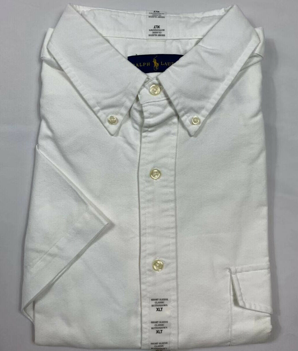 NWT-Polo-Ralph-Lauren-Men-039-s-Oxford-Button-Down-Short-Sleeve-Shirt-Big-amp-Tall miniature 4
