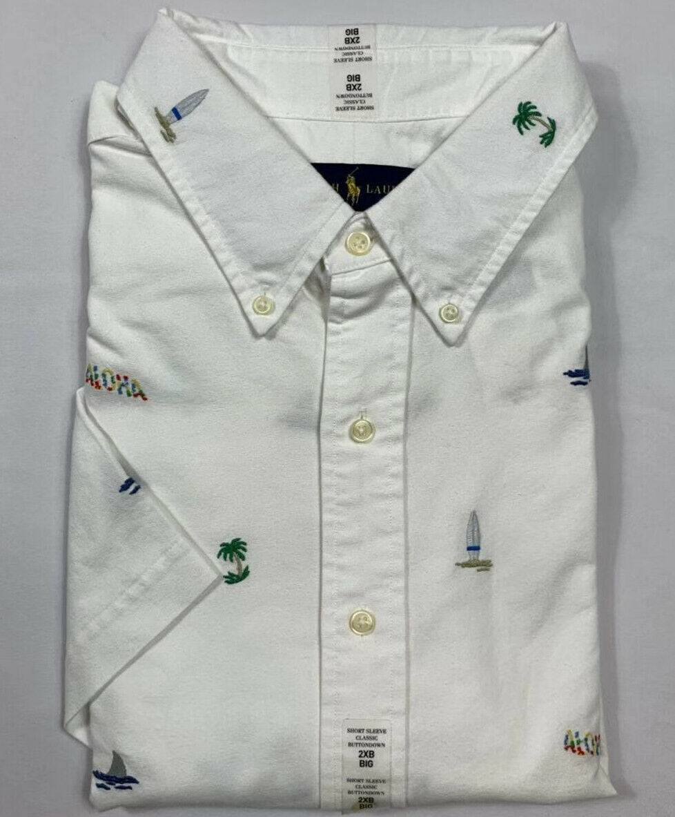 NWT-Polo-Ralph-Lauren-Men-039-s-Oxford-Button-Down-Short-Sleeve-Shirt-Big-amp-Tall miniature 12