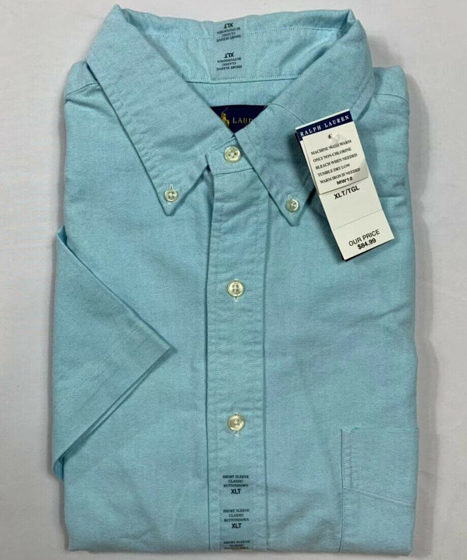 NWT-Polo-Ralph-Lauren-Men-039-s-Oxford-Button-Down-Short-Sleeve-Shirt-Big-amp-Tall miniature 8