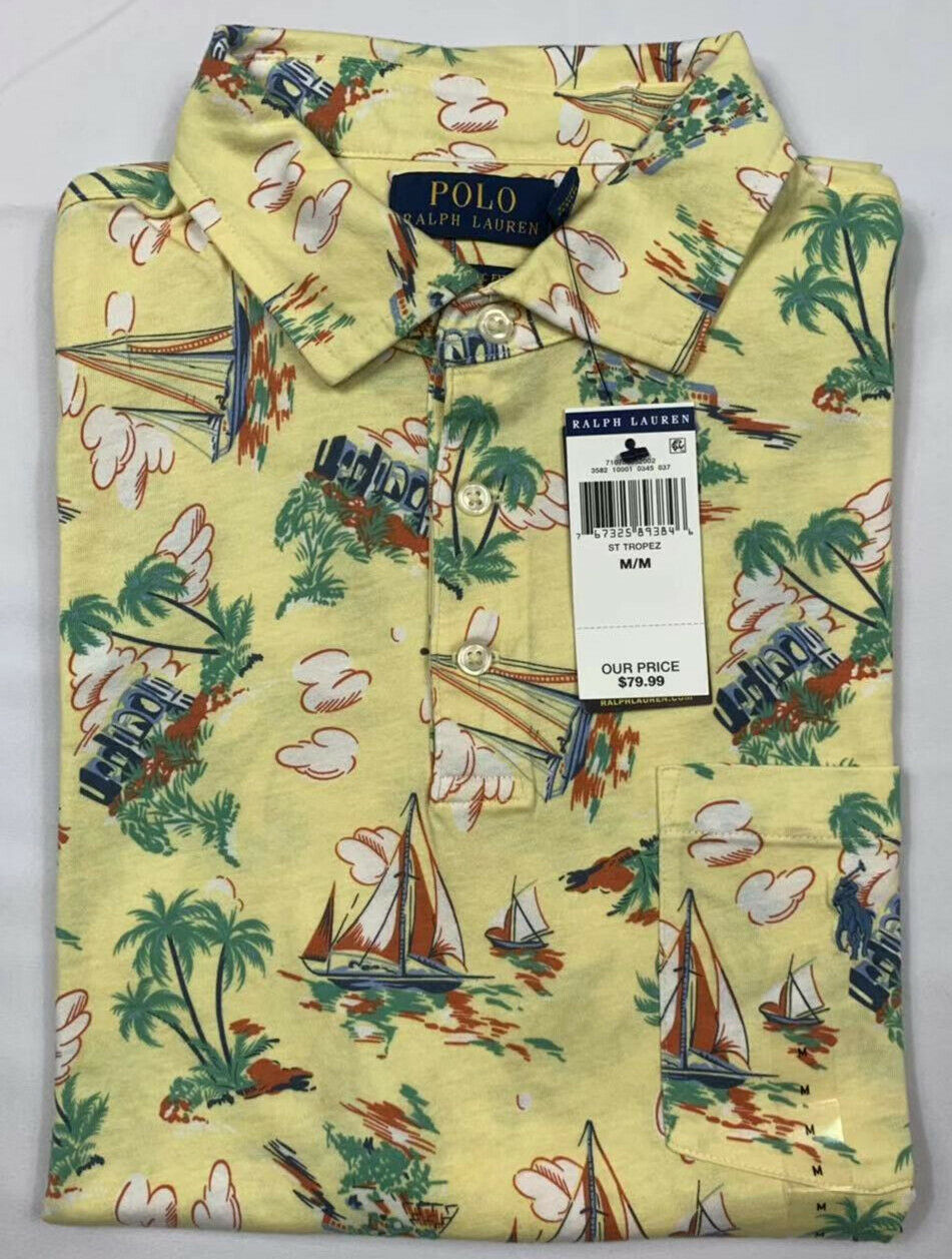 NWT-Polo-Ralph-Lauren-Men-Floral-SOFT-TOUCH-Polo-Shirt-S-M-L-XL-XXL-Big-amp-Tall miniature 11